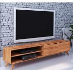 Massivholz Lowboard aus Kernbuche geölt 220 cm breit