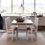 Massivholztisch in Weiß Buche Eiche ausziehbar