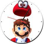 MasTazas Super Mario Odyssey B Wanduhren Wall Clock 20cm