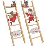 matches21 HOME & HOBBY Dekofigur »Engel fliegend ODER sitzend Dekoleiter Weihnachten rot 60 cm« (1 Stück), bunt
