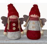 matches21 HOME & HOBBY Dekofigur »Engel Weihnachtsengel Dekofiguren Weihnachten 2er 13 cm« (2 Stück), rot