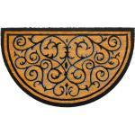 matches21 HOME & HOBBY Fußmatte »Fußmatte Kokosmatte Indoor Ornamente natur schwarz 45x75 cm«, halbrund, Höhe 15 mm