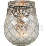 matches21 HOME & HOBBY Kerzenständer »Teelichtglas orientalisch Orient Windlicht antik«, silberfarben