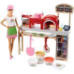 Mattel Barbie Cooking und Baking Pizzabäckerin Puppe und Spielset mit Spielknete