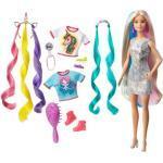 MATTEL GHN04 Barbie Fantasie-Haar Puppe (blond), Meerjungfrau- und Einhorn-Look, Anziehpuppe
