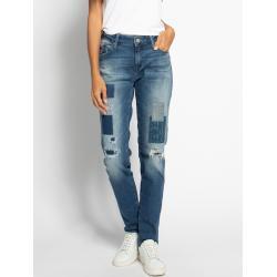 Blaue MAVI Boyfriend-Jeans für Damen