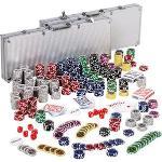 Maxstore Pokerkoffer 20030012, 1000 Chips, 2 Aluminium-Koffer, 4 Decks, Dealer Button, Würfel