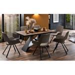 MCA furniture Stuhlgruppe Parana/Kobe in Holz-Optik/melange