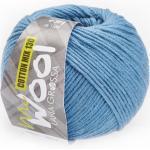 McWool Cotton Mix 130 uni von Lana Grossa, Jeansblau