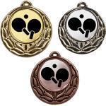 Medaille Rose mit Emblem und Kordel 40mm, gold