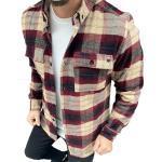 Megaman Jeans Flanellhemd »Megaman Herren Holzfäller Hemd Langarm Karohemd Kariert Shirt Flanell Holzfeller Baumwolle Flanellstoff«, Bordo/Beige