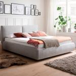 Hellgraue Meise Betten mit Stauraum 180x200 mit Härtegrad 2