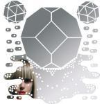 Meltingpolyhedron Selbstklebende Spiegel selbstklebend - Domestic - Spiegelfarben