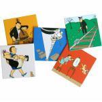 Memo Spiel mit 48 Loriot Zeichnungen auf Pappkarten im Karton Inkognito Spiel