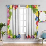 MENGBB Blickdicht Vorhang Kinderzimmer Mikrofaser - Ball bunt einfach süß - Ösen 90% Blickdicht Gardinen - 200x160cm Mädchen Junge Schlafzimmer Wohnzimmer dekorativ