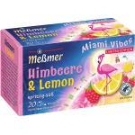 Meßmer Miami Vibes Himbeere & Lemon, 20 Aufgussbeutel, Limited Edition 50 g