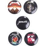 Metallica - Pack Of 5 - Buttons - Onesize