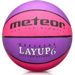 meteor® Layup Kinder Mini Basketball Größe #5 ideal auf die Jugend Kinderhände von 4-8 Jährigen abgestimmt idealer Basketball für Ausbildung weicher Basketball (Größe 6 (Damen), Rosa & Violett)