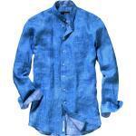 Mey & Edlich Herren Hemd Zephir-Leinenhemd Stehkragen blau 38, 39, 40, 41, 42, 43, 44, 45, 46