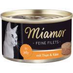 Miamor Feine Filets mit Thunfisch & Käse in Jelly 100 g - 24 Stück