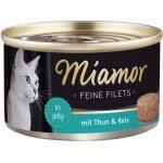 Miamor Feine Filets mit Thunfisch & Reis in Jelly 100 g - 24 Stück