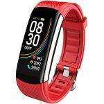 MicLee Damen Herren Fitness Armband Smartwatch mit Pulsmesser Fitness Tracker 0,96'' Farbbildschirm Fitness Uhr Wasserdicht IP67 Aktivitätstracker Schrittzähler Sportuhr Pulsuhren für iOS Android