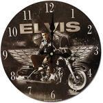 Midsouth Products Elvis Presley Uhr – Elvis auf Motorrad 29,8 cm Durchmesser