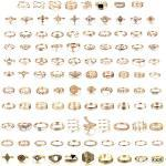 Milacolato 108Pcs Midi Ring Böhmischer Knöchelring Sets Mode Finger Vintage Roségold/Golden Stapelbare Ringe für Frauen Knöchel Midi Ringe