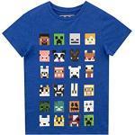 Royalblaue Kurzärmelige Minecraft Kindermode für Jungen