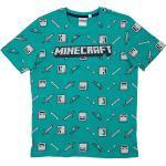 Minecraft T-Shirt »T-Shirt Drop Top green/gray 152cm«, grün