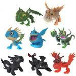 MINGZE 8 stücke Drachen Spielzeug, PVC Sortiert Wie Drachenzähmen 5 bis 7 cm Action-Figuren Night Fury Toothless Dragons Birthday Party Favor, Drachenzähmen leicht gemacht 3