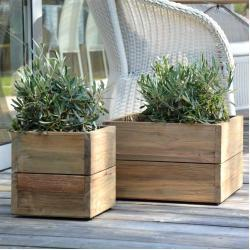 Mini Garden Container Pflanzbehälter aus Teak