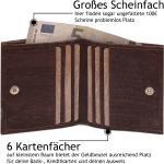 Mini Geldbeutel Aus Korkleder Mit Rfid Schutz & Wiener Schachtel | Braun