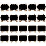 Mini Tisch Tafel Dekorative Tafeln Kreidetafel Klein Kleine Tafeln für Landhaus Buffet Party Deko Tischkarten Platzkarte Namensschild Preisschilder Hochzeit, Geburtstag usw Verwenden(20 Stück)