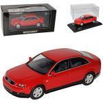 Minichamps A-U-D-I A4 B6 Rot Limousine 2000-2004 1/43 Modell Auto mit individiuellem Wunschkennzeichen