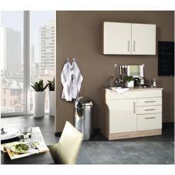Miniküche Held Möbel Toronto Creme 100 cm inkl. Einbaugeräte