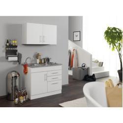 Miniküche Held Möbel Toronto Weiß 100 cm inkl. Einbaugeräte