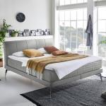 Silberne Minimalistische Betten 180x200