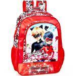 Miraculous - Ladybug Kinderrucksack »Ladybug & Cat Noir - Rucksack, 39x32x15 cm« (Reißverschluss, Mädchen), Schultergurt