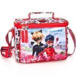 Miraculous - Ladybug Umhängetasche »Ladybug & Cat Noir - Kindergartentasche, 22x17x14 cm« (Reißverschluss, Mädchen), Geringes-Gewicht