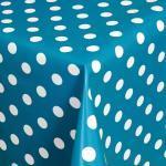 Moderno Tischdecke »Wachstuch Tischdecke Garten Wachstischdecke Gartentischdecke abwaschbar Punkte Motiv«, Eckig 100x140 cm, blau, Blau-Weiss