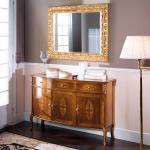 Möbel Set im Barock Design Nussbaum und Goldfarben (2-teilig)