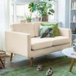Mørteens Sofa Croom I 2-Sitzer Beige Webstoff 143x84x81 cm (BxHxT) Skandi