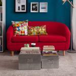 Mørteens Sofa Little 2-Sitzer Rot Webstoff 140x74x74 cm (BxHxT) Skandi