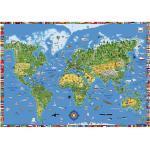 Moll Schreibunterlage Weltkarte Kunststoff Grün