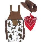 MOMBEBE COSLAND Baby Jungen Cowboy Kostüme Strampler (0-6 Monate, Braun)
