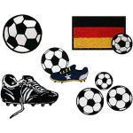 Mono-Quick Fußball, 7er Set, Aufbügler,Aufnäher,Bügelbilder,Patch,Bilder zum Aufbügeln, 7, 5, 5