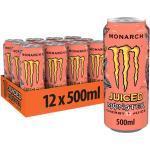 Monster Energy Monarch, 12x500 ml, Einweg-Dose, mit einem Mix aus Pfirsich und Nektarine
