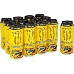 Monster Energy The Doctor Energy Drink, Valentino Rossi Special Edition mit prickelndem Zitrusgeschmack, Dosen-Palette, EINWEG (12 x 500ml)