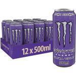 Monster Energy Ultra Violet, 12x500 ml, Einweg-Dose, Zero Zucker und Zero Kalorien